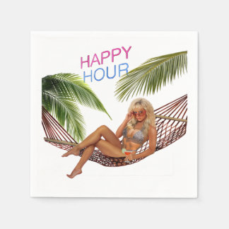 Happy Hour on the Beach Paper Napkin
