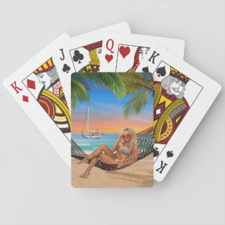 Happy Hour on the Beach Playing Cards