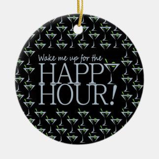 Happy Hour ornament, customize Christmas Ornament