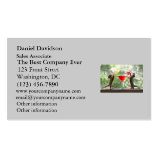 Happy Hour Squirrels Business Card Template