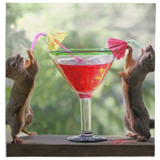 Happy Hour Squirrels Napkin