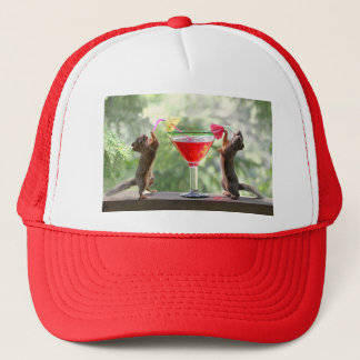 Happy Hour Squirrels Trucker Hat