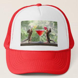 Happy Hour Squirrels Trucker Hat