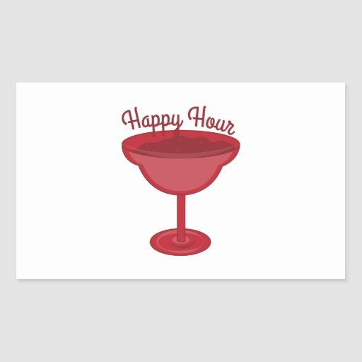 Happy Hour Rectangle Stickers