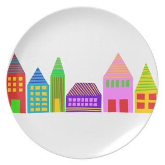 happy house melamine plate