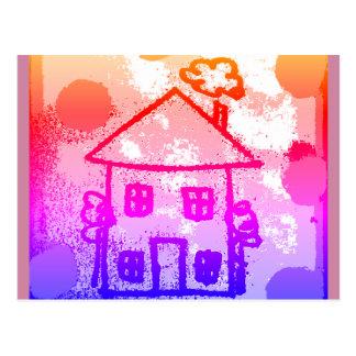 Happy house postcard