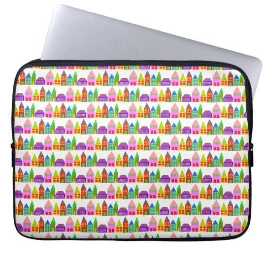 happy houses laptop tablet sleeve cover case