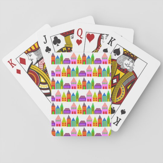 happy houses playing cards