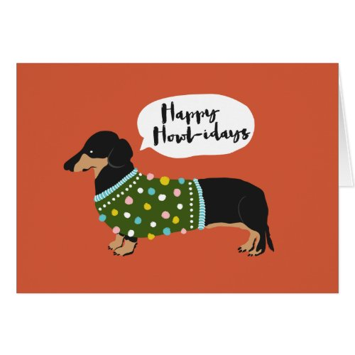 Happy Howl-idays Card