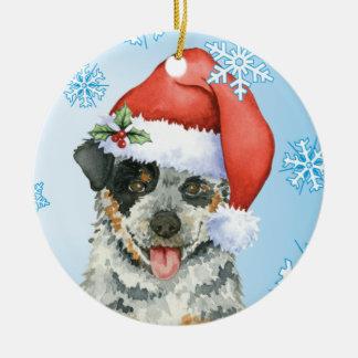 Happy Howliday ACD Christmas Ornament