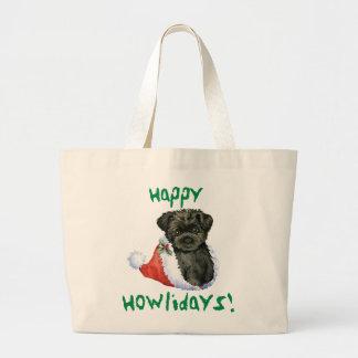Happy Howliday Affenpinscher Jumbo Tote Bag