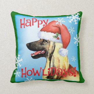 Happy Howliday Afghan Hound Cushion