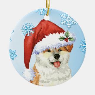 Happy Howliday Akita Christmas Ornament