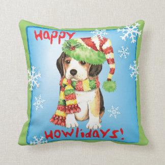Happy Howliday Beagle Cushion