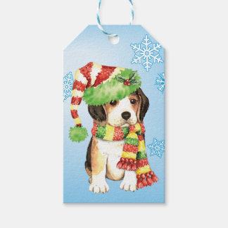 Happy Howliday Beagle Gift Tags