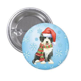 Happy Howliday Beardie 3 Cm Round Badge