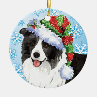 Happy Howliday Border Collie Christmas Ornament