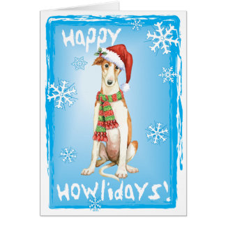 Happy Howliday Borzoi Card
