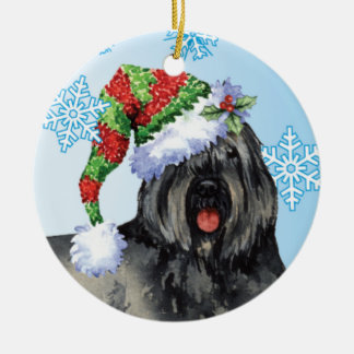Happy Howliday Bouvier Christmas Ornament
