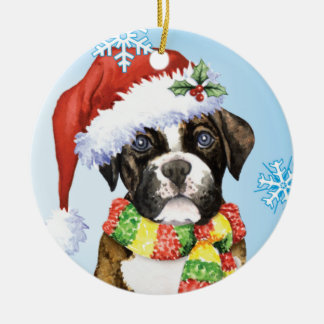 Happy Howliday Boxer Christmas Ornament