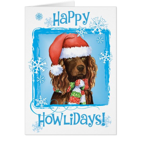 Happy Howliday Boykin Spaniel Card