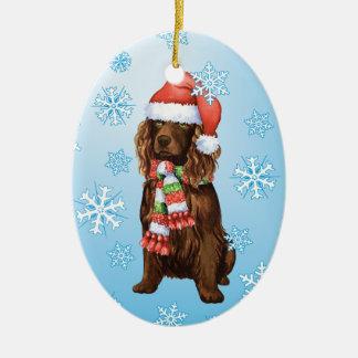 Happy Howliday Boykin Spaniel Christmas Ornament