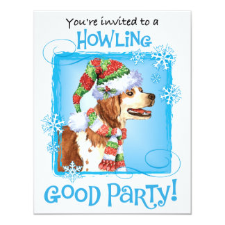 Happy Howliday Brittany 4.25x5.5 Paper Invitation Card