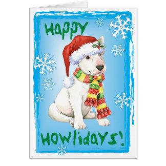 Happy Howliday Bull Terrier Card
