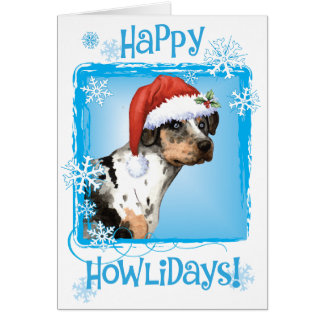 Happy Howliday Catahoula Card