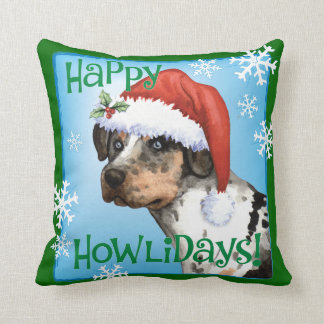 Happy Howliday Catahoula Cushion