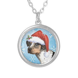 Happy Howliday Catahoula Silver Plated Necklace
