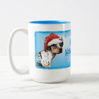 Happy Howliday Catahoula Two-Tone Coffee Mug