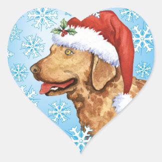 Happy Howliday Chessie Heart Sticker