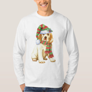 Happy Howliday Clumber Spaniel T-Shirt