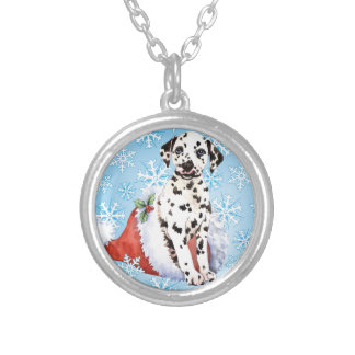 Happy Howliday Dalmatian Silver Plated Necklace