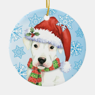 Happy Howliday Dogo Christmas Ornament
