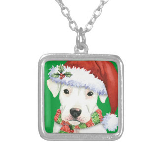 Happy Howliday Dogo Silver Plated Necklace