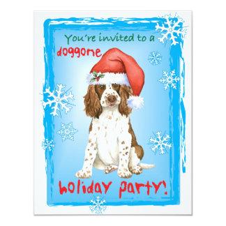 Happy Howliday English Springer Spaniel 11 Cm X 14 Cm Invitation Card