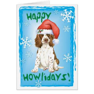 Happy Howliday English Springer Spaniel Greeting Card