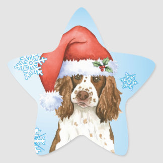 Happy Howliday English Springer Spaniel Star Sticker