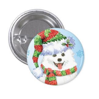 Happy Howliday Eskimo Dog Button