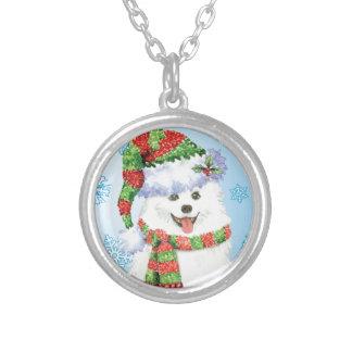 Happy Howliday Eskimo Dog Personalized Necklace