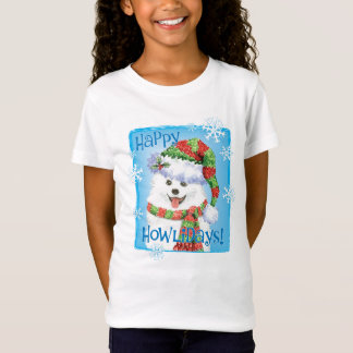 Happy Howliday Eskimo Dog T-Shirt