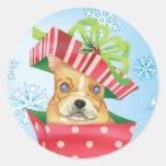 Happy Howliday French Bulldog Sticker