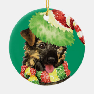 Happy Howliday German Shepherd Christmas Ornament