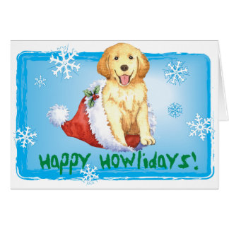 Happy Howliday Golden Retriever Card