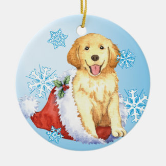 Happy Howliday Golden Retriever Christmas Ornament