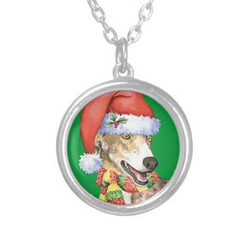Happy Howliday Greyhound Necklace