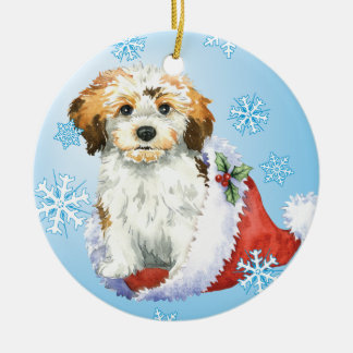 Happy Howliday Havanese Christmas Ornament