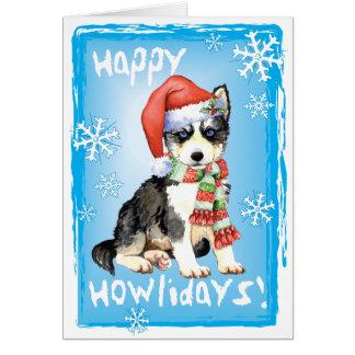 Happy Howliday Husky Card